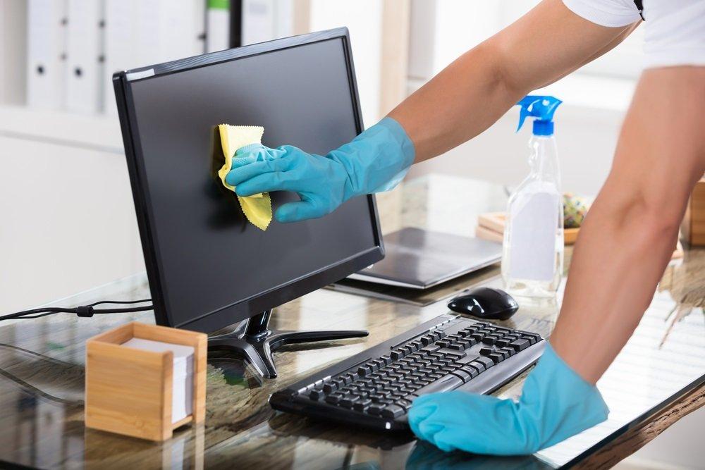 Kantoor schoonmaken
